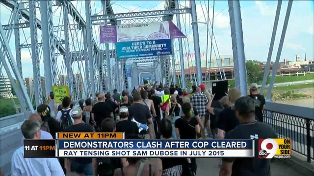 DuBose counter-protest overtakes vigil meant to support Tensing