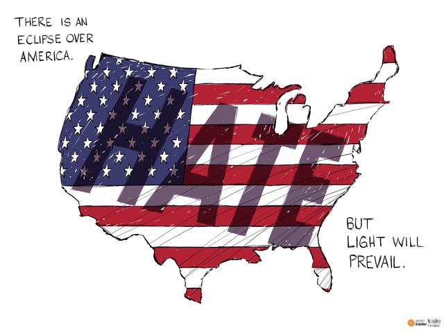 Editorial Cartoon Eclipse Over America