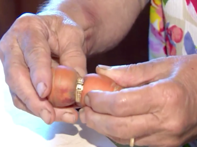 canadian woman finds diamond ring 13 years later wrapped around a