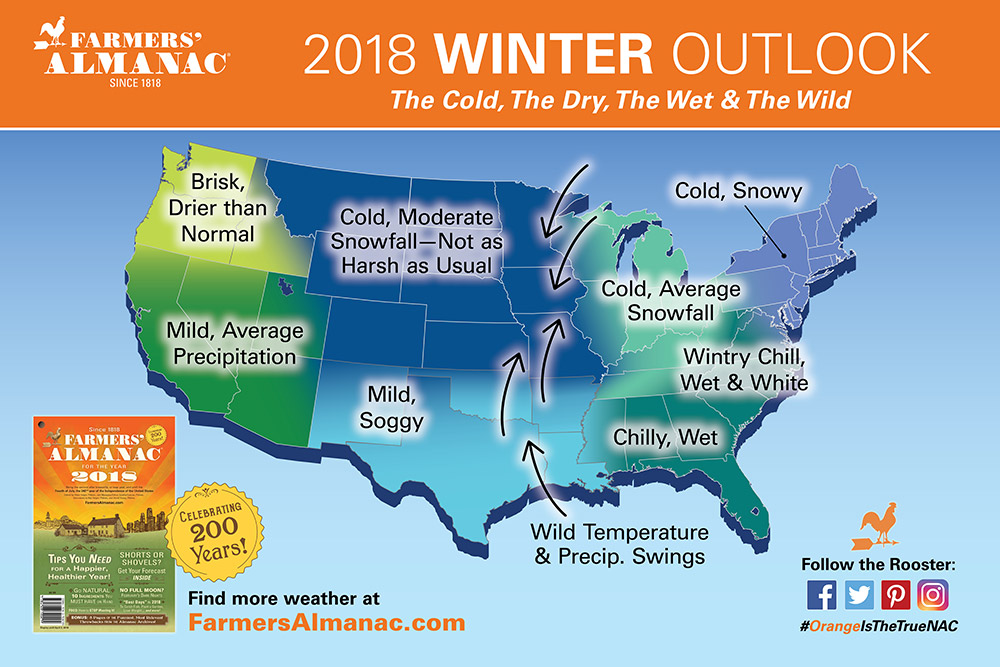 Farmers Almanac 20172018 winter forecast Is this forecast
