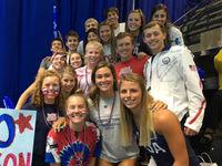 Manta Rays swimmer makes splash on world stage