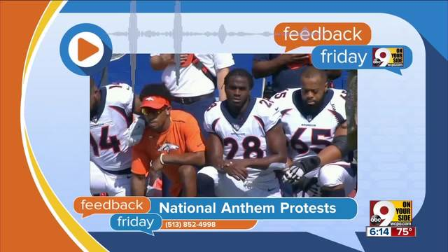 Feedback Friday- National anthem protests