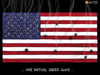 EDITORIAL CARTOON: One nation, under guns