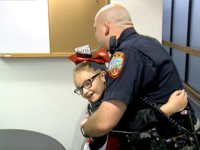 Officer's sweet gift to girl who was robbed