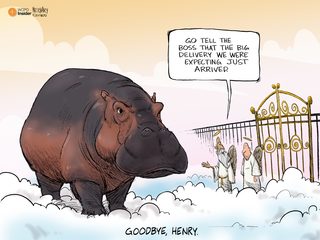 CARTOON: All hippos go to heaven