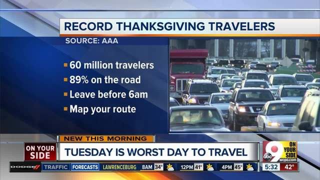 Travel during Thanksgiving 2017 is set to break twelve-year record