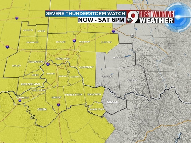 Severe Thunderstorm Watch for most of Tri-State