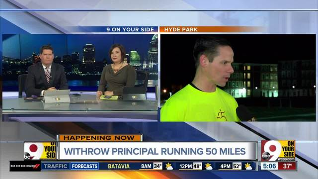 Withrow High School principal running 50 miles on Tuesday to inspire…