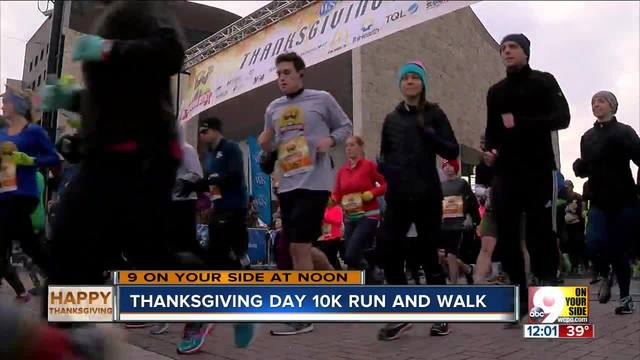 Thanksgiving Day 10K sees record number of runners