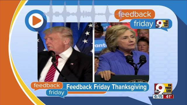 Feedback Friday- Thanksgiving thoughts