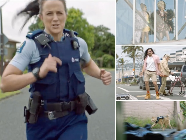 Badass NZ police recruitment video features bagpipes, cop cat & helicopter