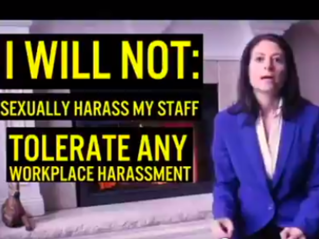 Female attorney general candidate uses sexual harassment in a campaign ad