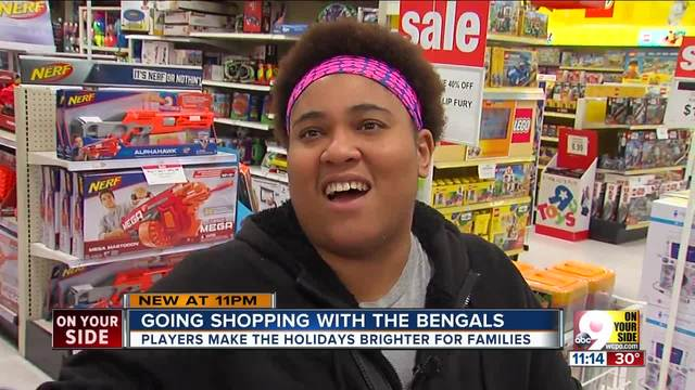 Christmas shopping with the Bengals