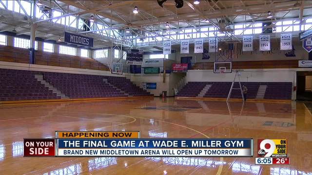 The final game at Wade E- Miller gym