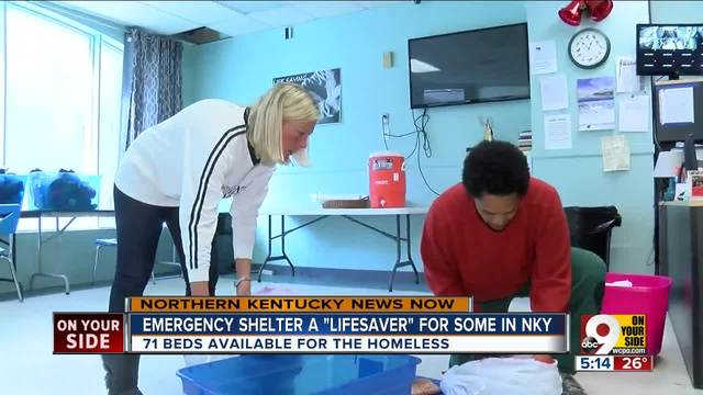 Emergency cold shelter -lifesaver- for NKY homeless