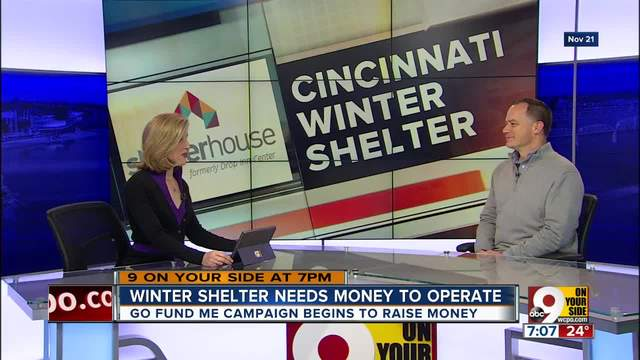 Winter shelter needs money to operate