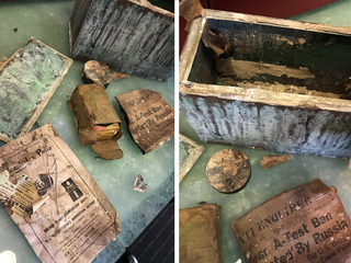 Cincinnati Gardens demo uncovers time capsule