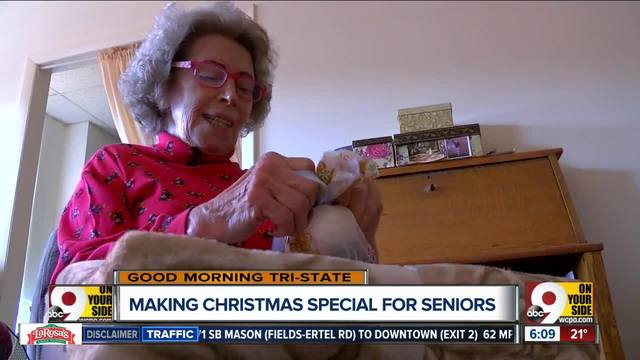 community donates christmas gifts to senior home residents