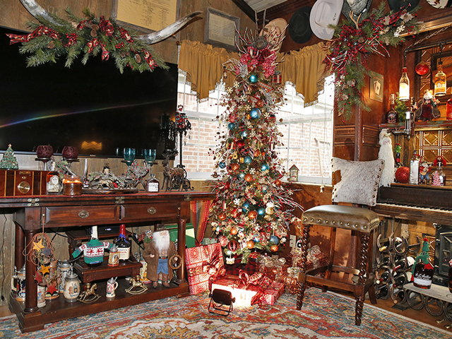 the saloon room photographed in the ft mitchell home of linda and bud roe tuesday dec 19 2017 photo by gary landerswcpo - The Christmas Lodge