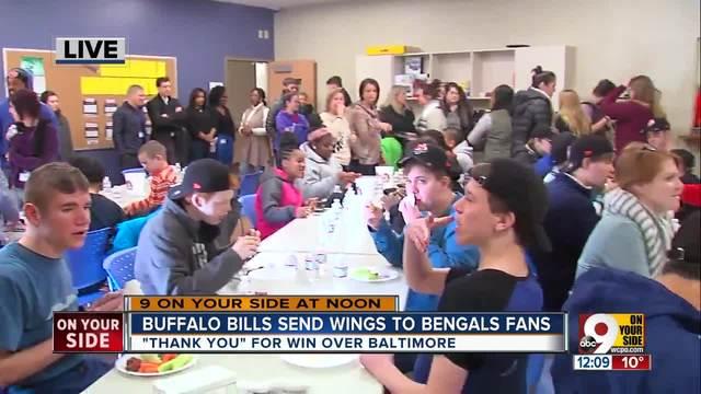 Bills send Bengals Buffalo wings as thank you