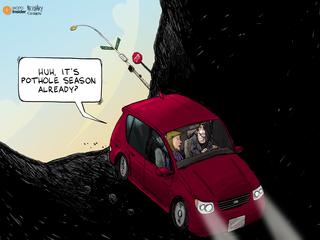 EDITORIAL CARTOON: Pothole season