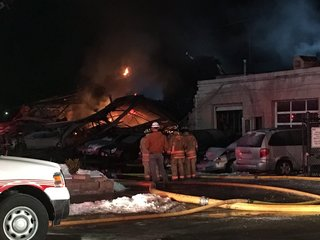 Fire guts Evanston body shop filled with cars