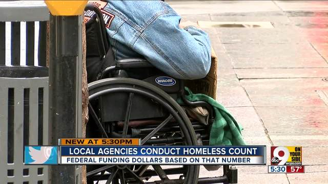 Area homeless street count scheduled for Tuesday
