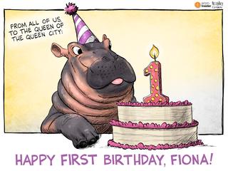 EDITORIAL CARTOON: Happy birthday, Fiona!