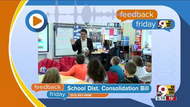 Feedback Friday- School district consolidation bill