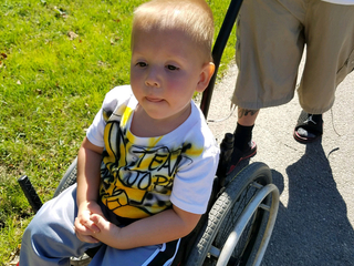 Boy, 3, gets stolen wheelchair back