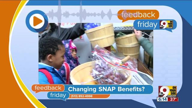 Feedback Friday- Proposed SNAP changes in bad taste