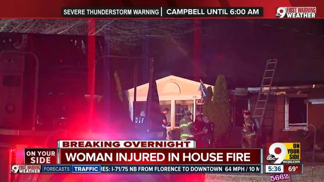 Woman injured in Columbia Township house fire