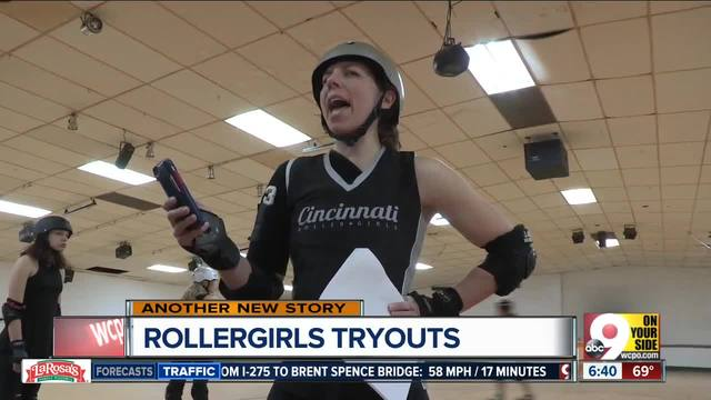 Skaters bring wheels- willpower to roller derby tryouts