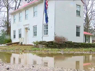 In Augusta, river creeps into woman's home