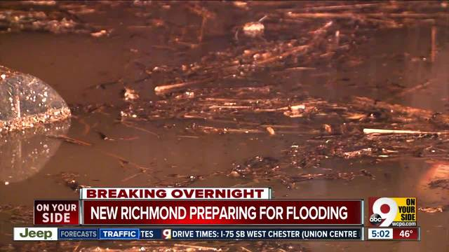 Aerial footage shows flooding in Cincinnati after Ohio River bursts its banks