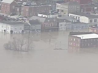Chopper 9 surveys flooding, storm damage