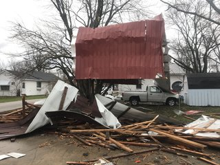 'Very frightful:' Possible tornado in Brown Co.