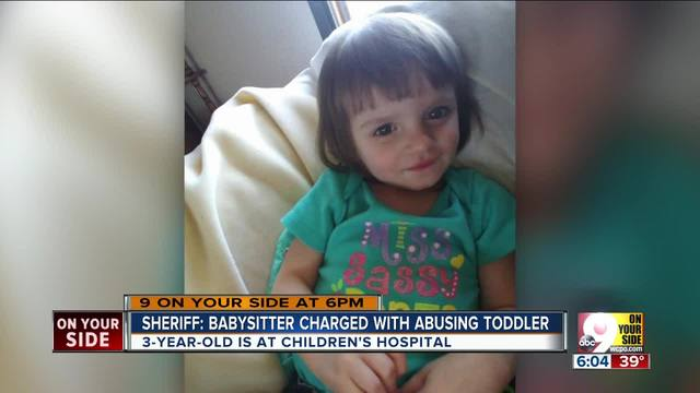 'Brain dead' Butler County babysitter charged with shaking 3 year old girl