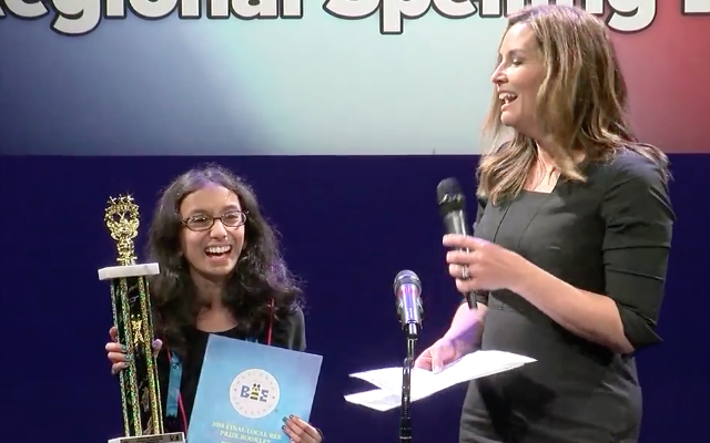 Local students take a letter at Regional Spelling Bee