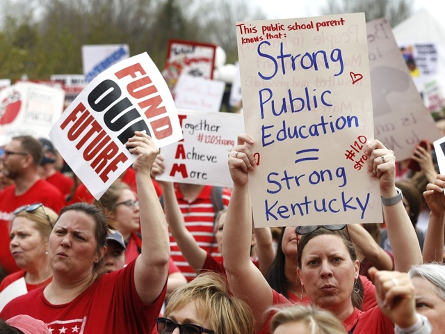Kentucky governor apologises for saying teacher strike led to sexual assaults
