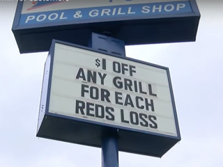 Store's sales pitch: $1 off for each Reds' loss