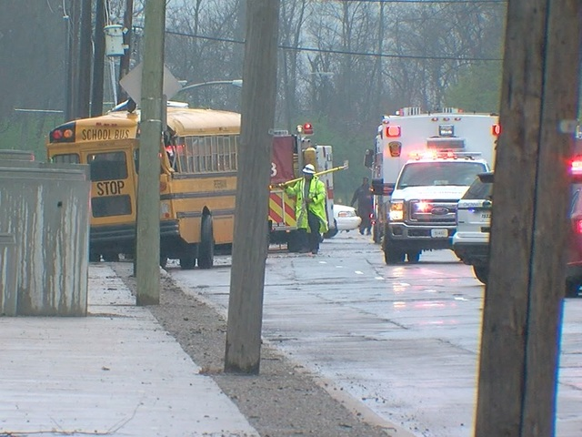 12-year-old student in critical condition after school bus crash