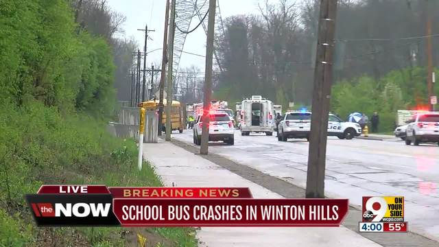 USA school bus crash injures 12 children