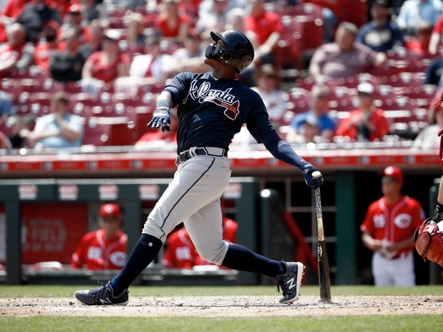 Ronald Acuna playing left field, batting sixth for Braves in Major League Baseball debut