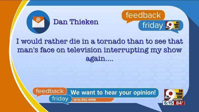 Feedback Friday- -Disgrunted- Idol fans shrieked at us on the phone- Awesome-