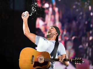 Luke Bryan performs at Great American Ball Park