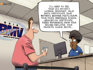 EDITORIAL CARTOON: Can I see your ID?