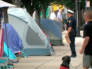 City moves to clear out another homeless camp