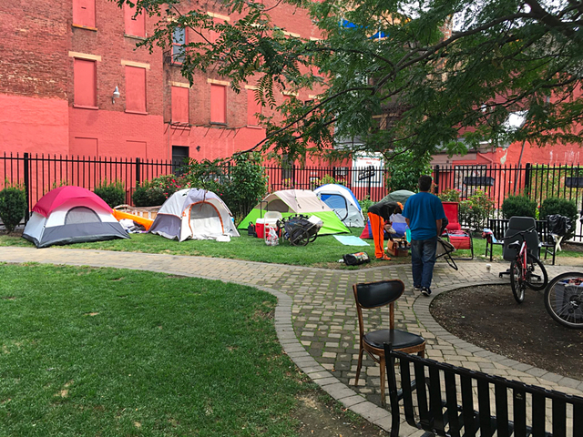 Homeless ordered off private lot get extension