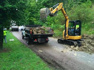 Landslide closes Amsterdam Road in Covington